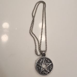 Wiccan pentacle necklace
